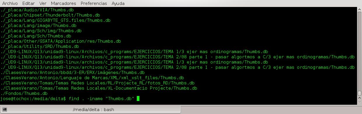 Encontrar archivos de miniaturas generados por Windows
