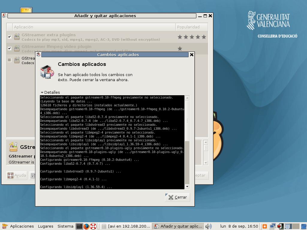 Instalar codecs GStreamer en Lliurex